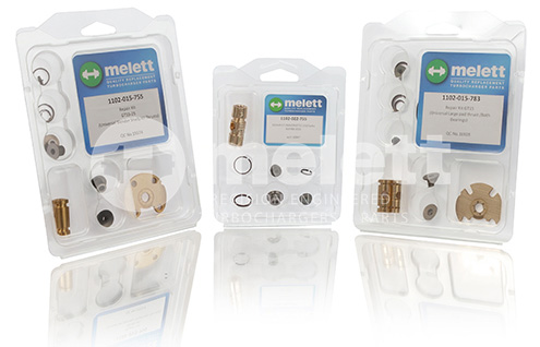 Melett turbo repair kits with Melett watermark
