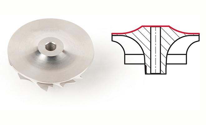 Turbo compressor wheel Melett Deep superback