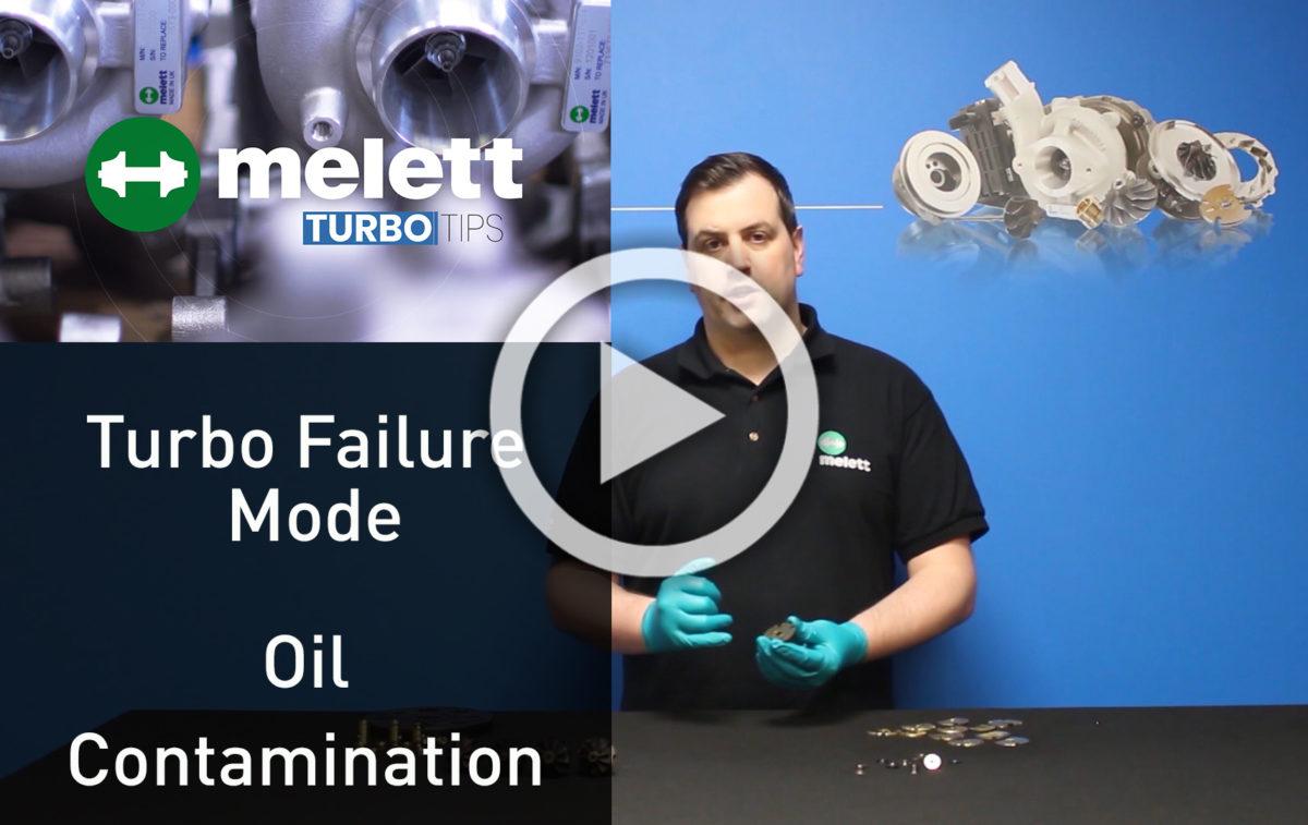 In che modo la contaminazione dell'olio causa la rottura del turbocompressore?